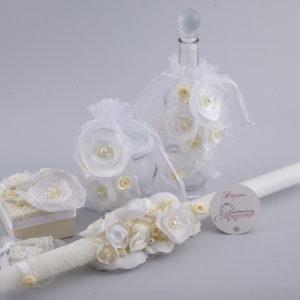 кръщелен комплект, бутиков комплект за кръщене, 3D цветя, ръчно изработени цветя