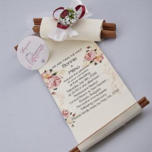 покана, сватба, канела, канелен свитък