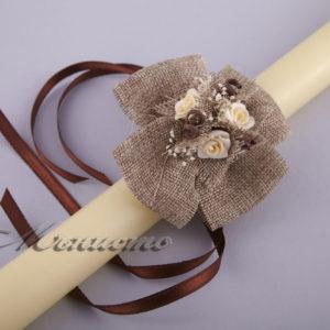 рускик, декорация, сватбени, свещи