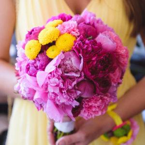 сватба , булченски букет, бутониери, шаферска гривна , жълта сватба