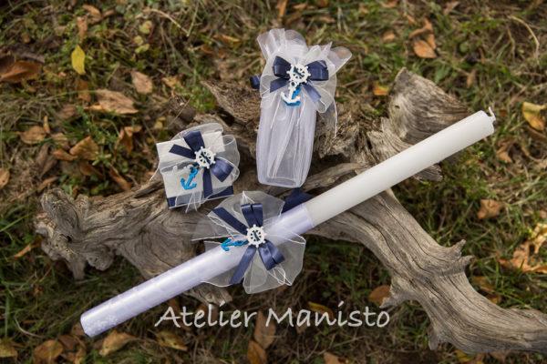 комплект за кръщене, кръщелен, кръщене, мънисто, ритуален комплект, ритуална свещ, свето кръщение, море, момче
