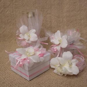 кръщелен, комплект, църква, розово, орхидея, бяло
