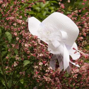 детска, официална, шапка, декорирана, рожден, кръщене