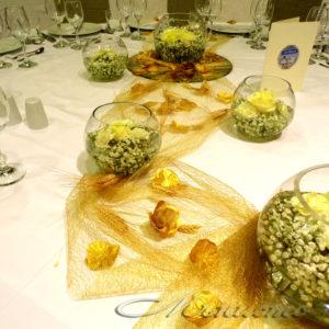 сватба, житни класове, сватбена декорация, златна сватба