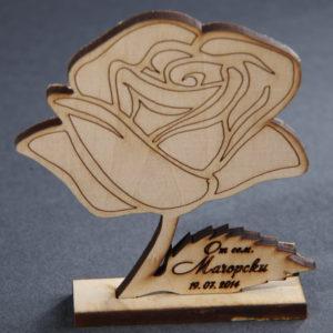еко подарък, сватба, подаръци гости, роза, надпис, сватбени
