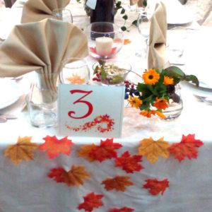 сватба,сватбена декорация , сватбен , сватба в форум централ,есенна сватба, есенни листа
