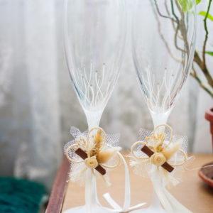ритуални чаши, декорация за ритуални чаши, сватба, сватбени