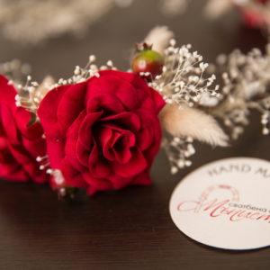 сватбен аксесоар, венец, венче , сватбен венец, рози