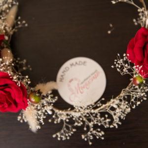 сватбен аксесоар, шаферки, венец, венче , за носия, рози,
