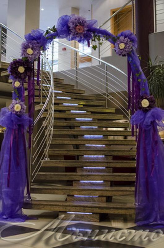 сватба, декорация за сватба,свтаба в триада , лилава сватба, сватба в лилаво, арка, изнесена церемония