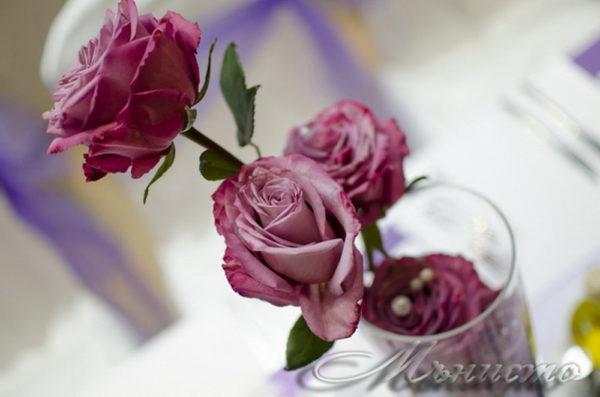 сватба, декорация за сватба,свтаба в триада , лилава сватба, сватба в лилаво, рози