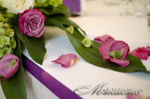 сватба, декорация за сватба,свтаба в триада , лилава сватба, сватба в лилаво