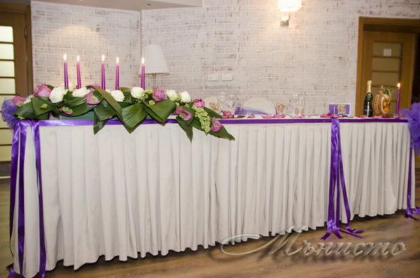 сватба, декорация за сватба,свтаба в триада , лилава сватба, сватба в лилаво, вип маса