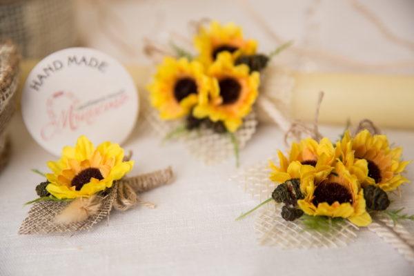 сватба, сватбен сет, сватбен комплект, ритуален комплект, слънчогледи