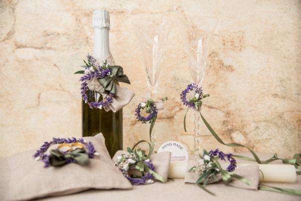 сватба, svatba-lavandula-svatben-komplekt-ritualenкомплект за сватба, ритуален комплек, лавандула