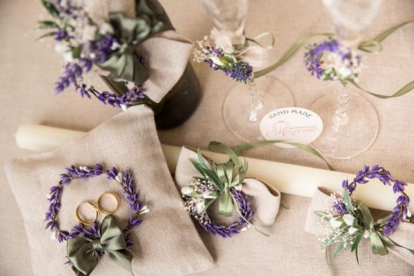 сватба, комплект,сватба, ритуален, комплек, лавандула