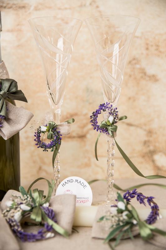 сватба, комплект,сватба, ритуален, комплект, лавандула