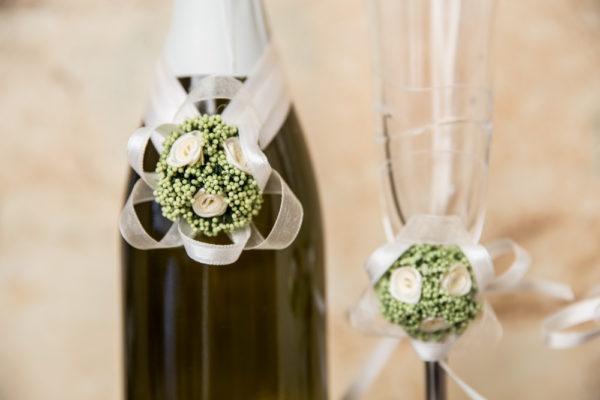 сватба, комплект за сватба, ритуален комплек, сватбено шампанско