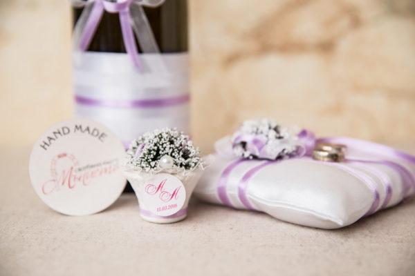 комплект за сватба, ритуален комплек, сватбени халки, възглавничка