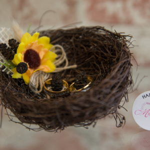 сваба, сватбен, халки, слънчогледи, гнездо