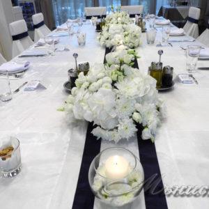 сватба, декорация за сватба, аранжировки живи цветя сватба