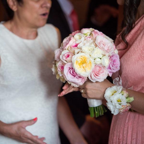 сватба, декорация за сватба,булченски букет ангелски рози