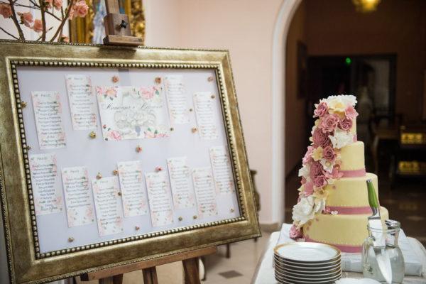 сватба, декорация за сватба, изнесена церемония, сватба в Тера, табло