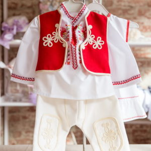 детска носия, носия за кръщене момче, кръщене народен стил