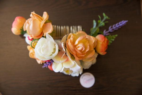 сватба, аксесоар, коса, сватбен, лавандула, цветен