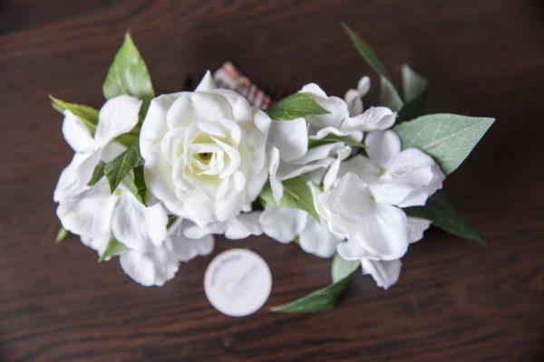 сватба, аксесоар, коса, сватбен, хортензия, цветя