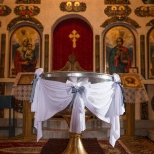 кръщене, декорация, църква, купел