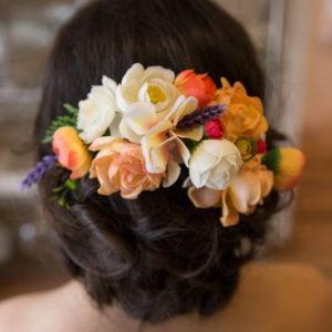 сватба, аксесоар, коса, сватбен, венец, цветен, лавандула