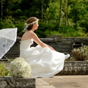 сватба, булченски, коса, аксесоар, натурални