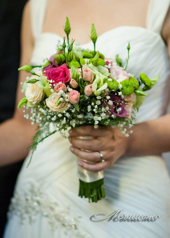 сватба, булченски, букет, сватбен