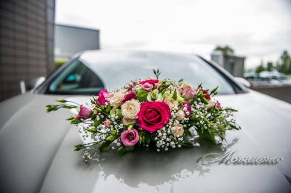 сватба, булченски, букет, сватбен, автомобил