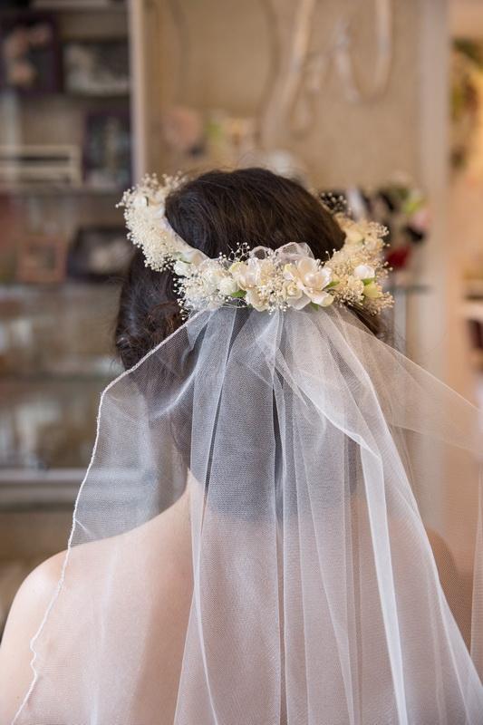 сватба, аксесоар, коса, сватбен,воал, венец, рустик