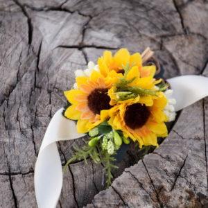 сватба, гривна , слънчогледи, шаферка, сватбена