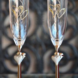 сватбени, чаши, ритуални, сърца
