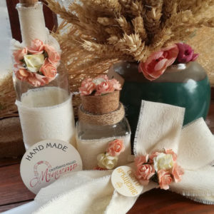 кръщелна свещ, комплект за кръщене, рустик стил, народен стил кръщене