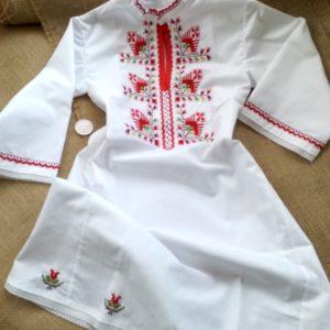 детска носия,риза с български шевици, кръщене в народен стил