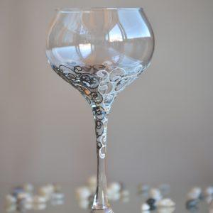 вино, шампанко, сватбени, бокал