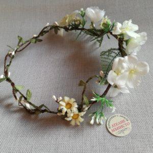 венец за сватба, венче за шаферка , детски венец, венец бели цветя , венец за кърщене