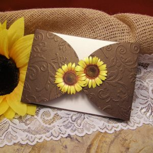 покана , сватба, слънчогледи, юбилей