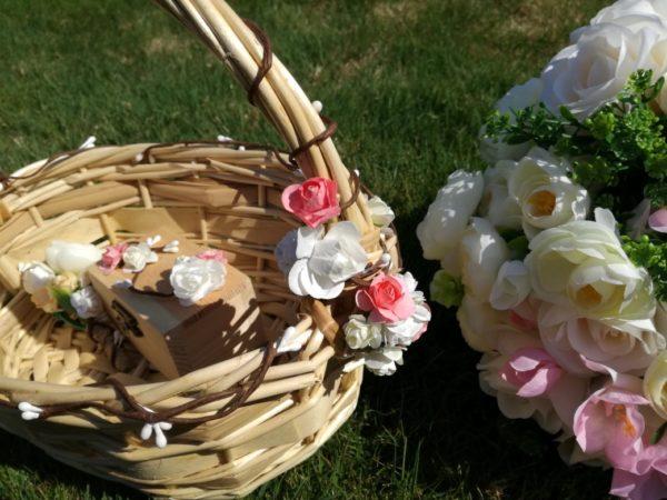 кошница за сватбени късмети, шаферки кошнички