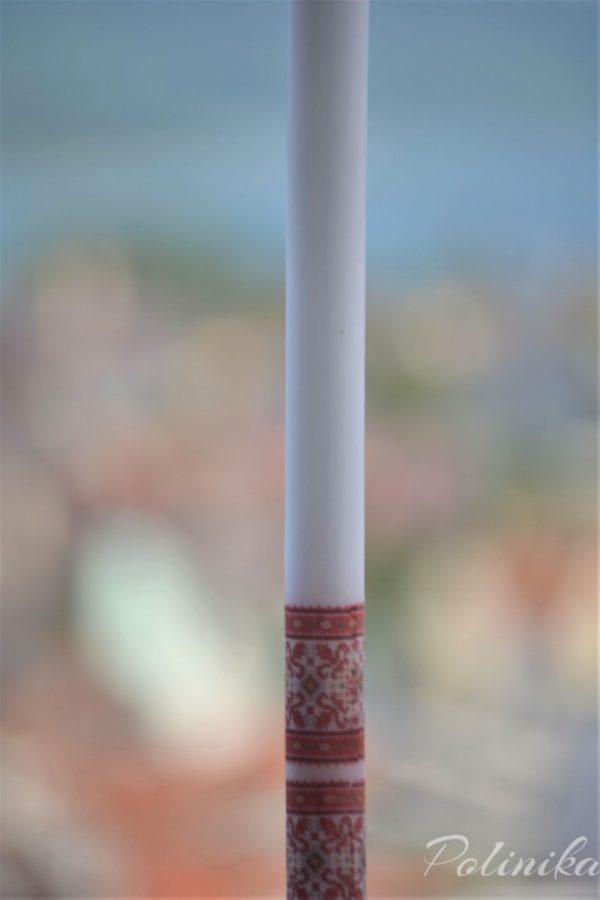 сватбени свещи, свещи с шевици, сватба народен стил