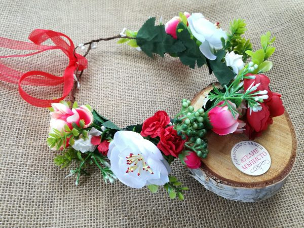 венец за носия, детски венец, венец да лазарки, сватба в народен стил