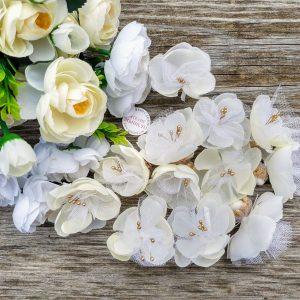 сватбено късметче, късметче за хвърляне, екрю и златно, бяло и златно