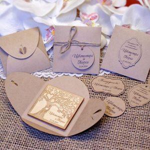 магнити за сватба, дървени магнити, сувенири сватба