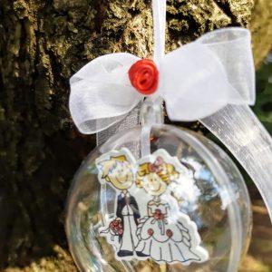 подаръци за гости на сватба, сувенири за сватба, младоженци