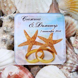 сувенири за сватба, подаръци гости сватба, морски звезди